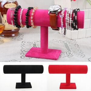 Velvet-T-Bar-Display-Stand-Holder-Organizer-Bracelet-Jewelry-Watch-Headband-Rack