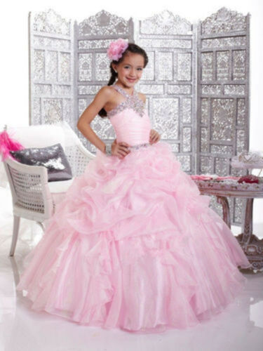 Flower Girl Dresses for Wedding Bridesmaids Prom Ball Gown Pageant Party PrinceC
