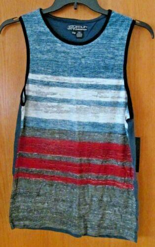 Black Striped sleeveless Tank ~Boy/'s Size 16-18~NEW w//tag Red Blue