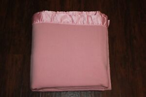 be19f1a5ac Image is loading Vintage-Pendleton-Blanket-Pink-with-Satin-Trim-Pure-