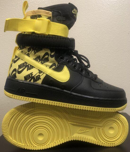 a12946f85f190 NEW Nike SF AF1 Air Force One High AR1955-001 Dynamic Yellow/Black Mens