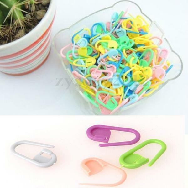 30pcs Plástico Tejer Marcadores Puntada Holder Markers Knitting Sicherheitsnadel