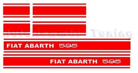 ADESIVI ABARTH 595 FIAT 500 LATERALI ROSSI P767R
