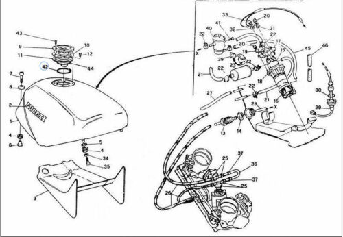 Ducati Fuel Filler oring MS 851 888 RR 400 600 620 750 900 SS 88640111A 750
