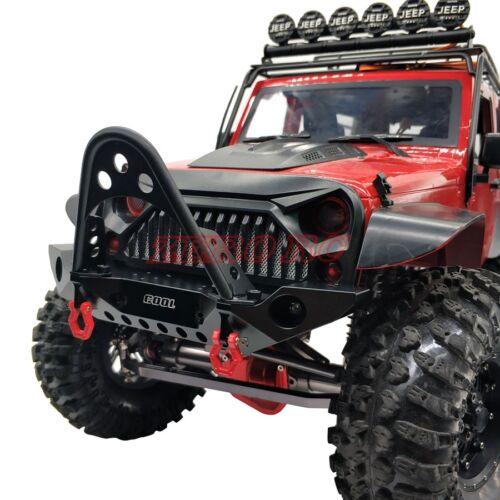 Cool Racing RC SCX10 90046 TRX-4 Alloy Metal Front Bumper Bull Bar W// Shackles