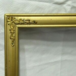 ANTIQUE-FITS-8-034-X-11-034-GOLD-GILT-WOOD-PICTURE-FRAME-FINE-ART-VICTORIAN