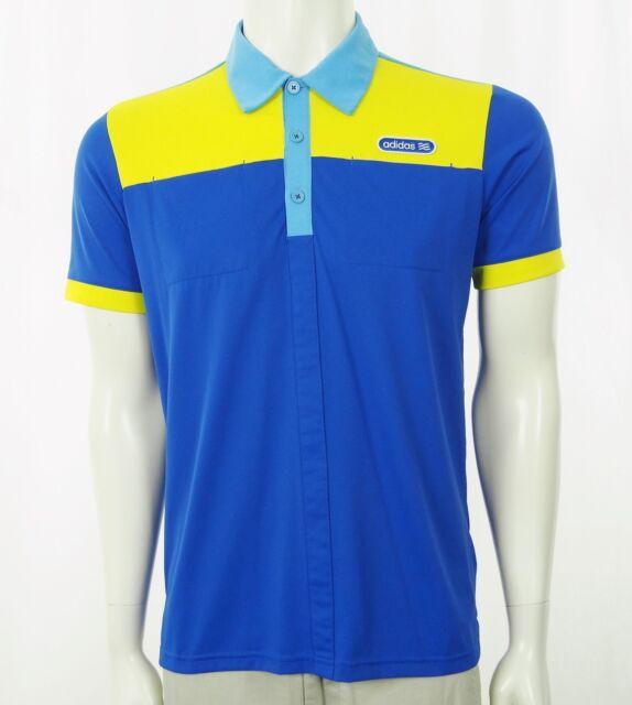 Adidas Golf Blue Athletic Casual Tech Golf Polo Shirt Mens Small