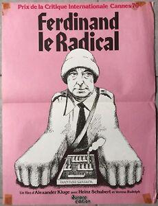 Affiche-FERDINAND-LE-RADICAL-Alexander-Kluge-HEINZ-SCHUBERT-40x60cm