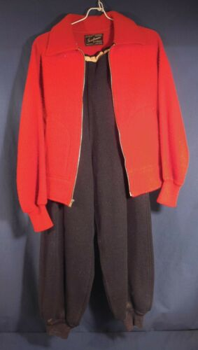 Vintage 1930's-1940's Women's Wool Ski Outfit Jack