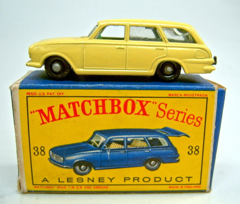 MATCHBOX regular wheel Nº 38b vauxhall victor jaune noire roues profil austère