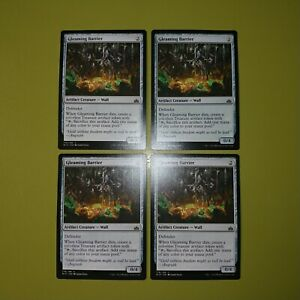 Gleaming-Barrier-x4-Rivals-of-Ixalan-4x-Playset-Magic-the-Gathering-MTG