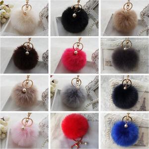 Press Button für Strickmütze Frauen große Faux Waschbärpelz Pom Pom Ball w