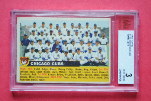 Topps 1956 Chicago Cubs #11 Name Left Graded Baseball Card