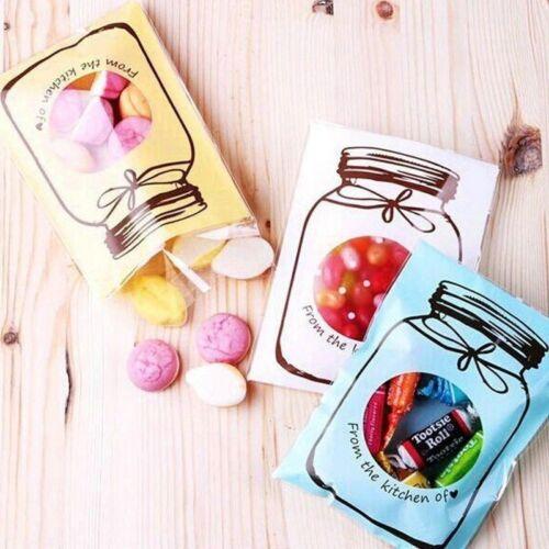 Wedding Birthday Small Cellophane Bottle Party Gift Seal Candy Bag*100 NE8