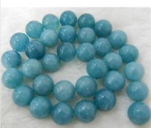 """Wholesale Multi-size 6-8-10mm Brazilian Aquamarine Round Gemstone Loose Bead 15/"""""""