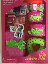 """Our Generation 18"""" Doll Luggage and Travel Set Suitcase Fits American Girl Doll"""