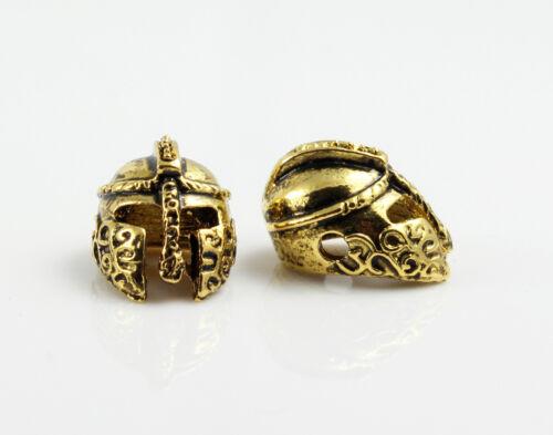 "golden-Ø 1,5 mm-pulsera fabrican Guerrero 2 metal perlas /""Esparta/"""