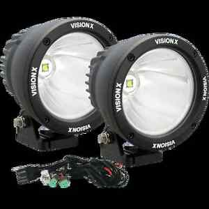 Wondrous Set Of 2 Vision X 4 5 25 Watt Driving Led Light Cannons W Dual Wiring 101 Akebwellnesstrialsorg