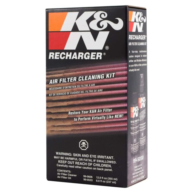 K&N 99-5050 Air Filter Maintenance / Service / Recharger Complete Kit