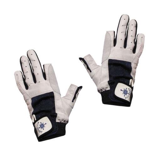 Bekleidung 2 Finger frei Blueport Segelhandschuhe aus Leder Handschuhe Segeln robust