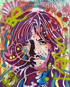 Dean-Russo-Art-Original-Artwork-George-Harrison-The-Beatles-Music-Portrait-Art
