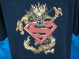 vintage-90s-SUPERMAN-DRAGON-DC-COMICS-T-Shirt-LARGE-movie-hip-hop