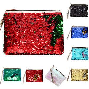 Mermaid-Glitter-Sequins-Cosmetic-Makeup-Bag-Case-Clutch-Zip-Wallet-Purse-Handbag