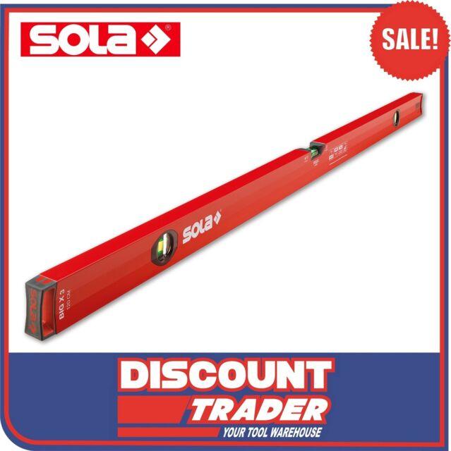 """SOLA Aluminium Box Profile Spirit Level BIG X 3 3 Vial 48"""" 120cm 1200mm BIGX3120"""