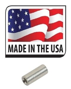 (100) 16-14 NON-INSULATED PARALLEL SEAMLESS BUTT CONNECTOR UNINSULATED USA MADE