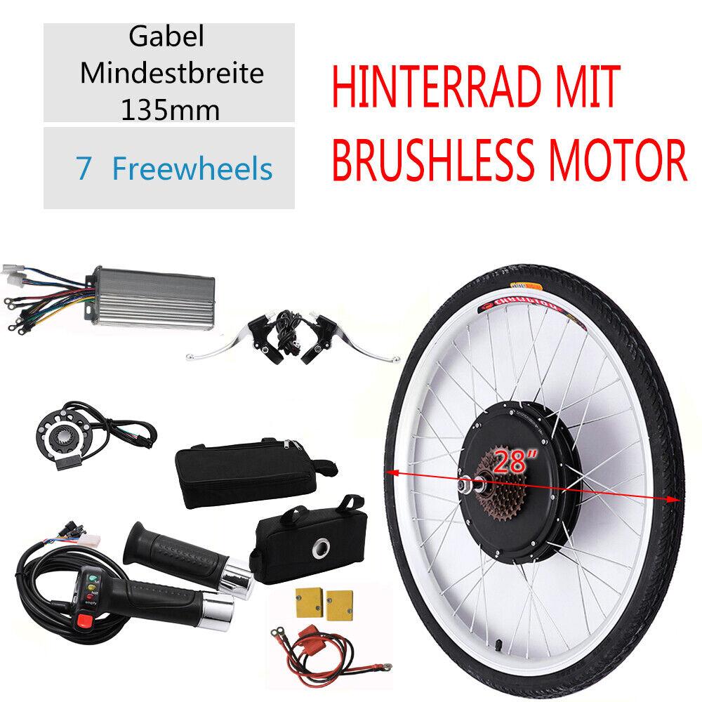 28 ebike CONVERSION KIT 48v 1000w Elettrico Bicicletta Set di trasformazione Ruota Posteriore Set