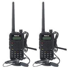 2X Walkie-Talkie Retevis RT5 Dual Band UHF+VHF 8W 128CH 1750Hz Two Way FM Radio