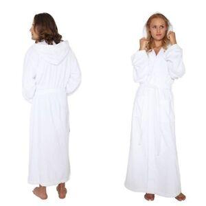 Hooded Bathrobe Mens Womens Turkish Cotton Terry Long Full