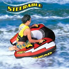 Airhead RIP II Inflatable Water Tube Steerable 1 Rider Boat Tow Towable AHRI-22