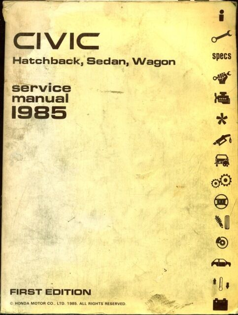 1985 Honda Civic Factory Service Manual Set  Repair Manual