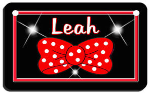 Polka-Dots-Bowtie-Bicycle-License-Plate-Personalize-Gifts-Girls-Ladies-Bikes