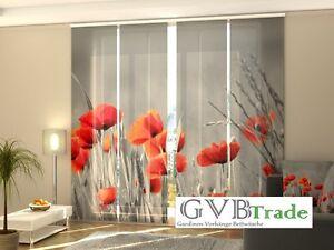 Window Treatments & Hardware Industrious Fotogardinen Poppie Schiebevorhang Schiebegardinen Vorhang Gardinen 3d Fotodruck