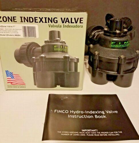 """FIMCO 1/"""" Indexing Sprinkler 4-Zone Valve #9254 w// 2 /& 3 Zone Cams City Water"""