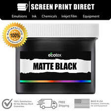 Ecotex Matte Black Premium Plastisol Ink For Screen Printing All Sizes