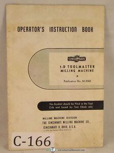 Cincinnati-1-D-Toolmaster-Milling-machine-Manual