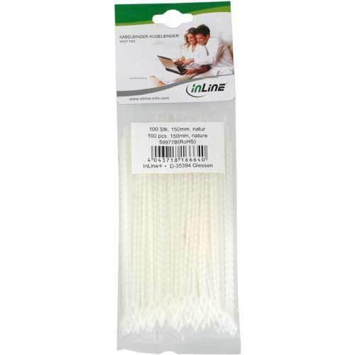 InLine ® Fascette per cavi SFERA Binder Natura 100 pezzi Lunghezza 150mm