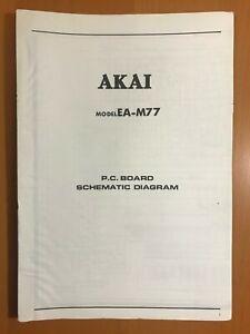 ORIGINAL-SERVICE-SCHEMATIC-amp-DIAGRAM-AKAI-EA-M77-STEREO-EQUALIZER-D340