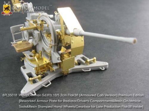 Griffon BPL35018 1//35 Sd.Kfz.10//5 2cm Flak 38 Premium Edition Etching Parts