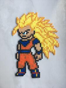 Details About Pixel Art Perles A Repasser Dragon Ball San Goku Super Saien 3