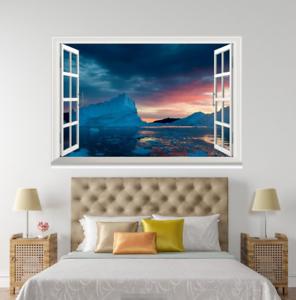 3D Sunset View 60 Open Windows Mural Wall Print Decal Deco AJ Wallpaper Ivy