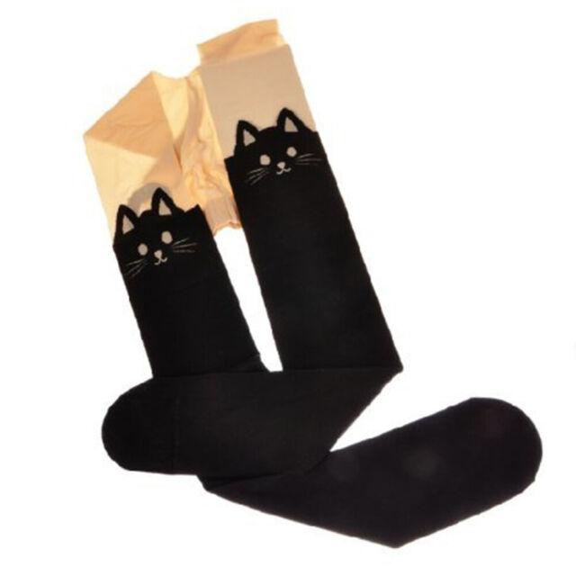 Kitten Tights Stockings CAT Tail Tattoo Tights Long Stockings Party Tight Socks