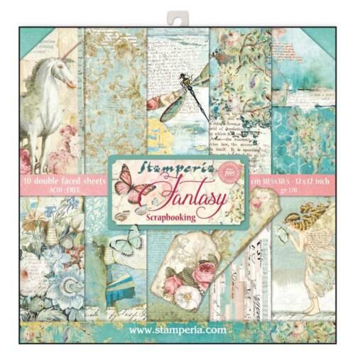 Stamperia Wonderland 12 x 12 Paper Pack Fantasy Scrapbook Papers