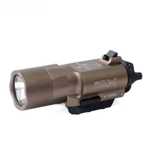 Tactical X300U 500LM Super Bright LED Flashlight Torch Light Fit Rifle 20mm Rail