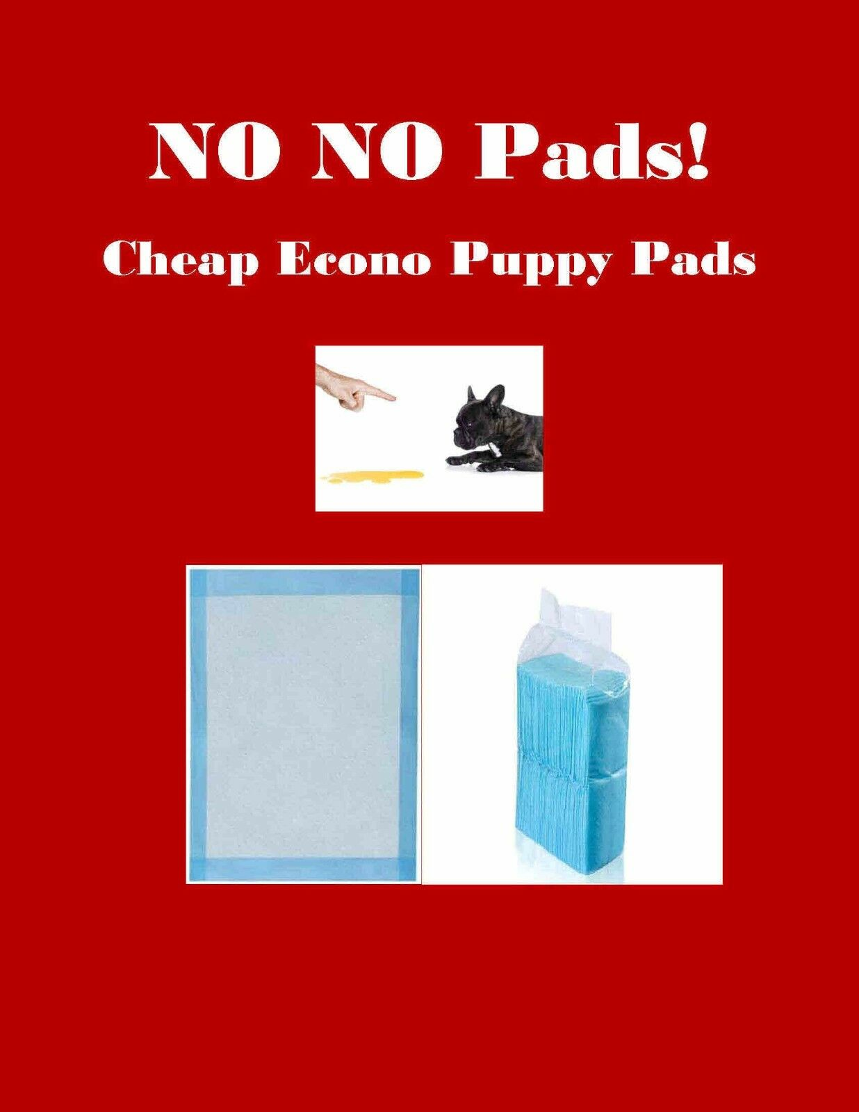 23x24 400 CHEAP NO Pads Puppy Training Pads Lightweight Economy Pads
