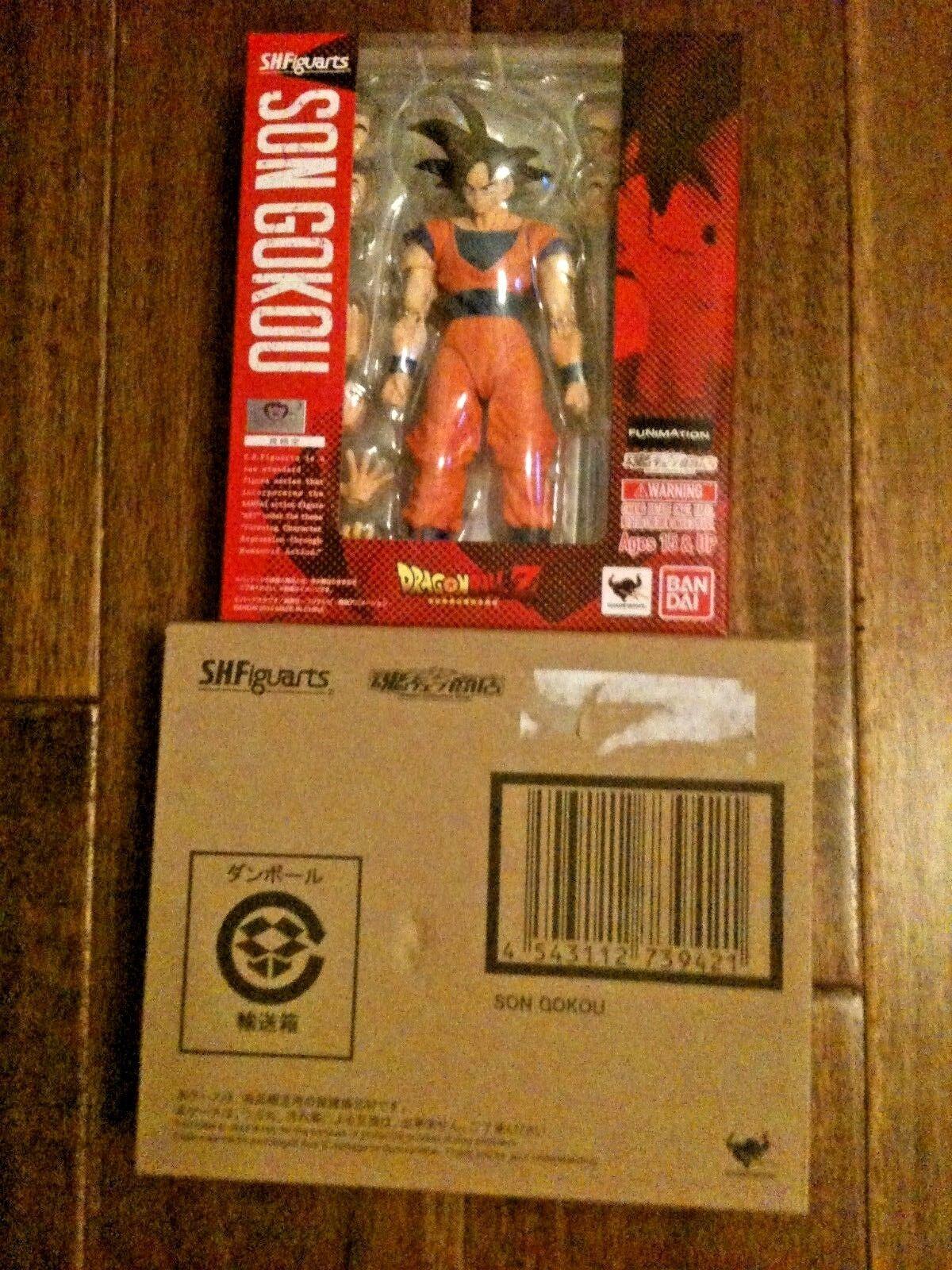 Baindai S.H. Figuarts Son Gokou - Dragon Ball Z Goku Figure with Shipping Box