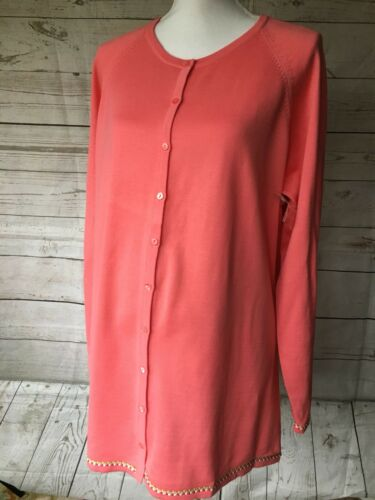 Maternity Sweater Size XL X Large NEW Womens Orange Cardigan Women's